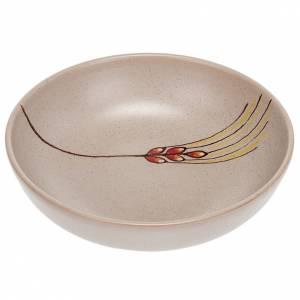 Ceramics Chalices Ciborium and Patens: Ceramic decorated paten , 16 cm, Beige