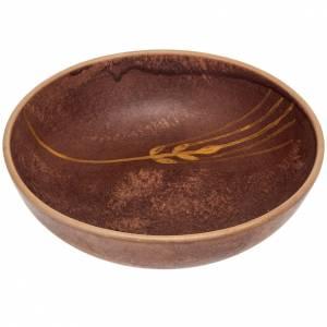 Ceramics Chalices Ciborium and Patens: Ceramic paten 16 cm, leather color