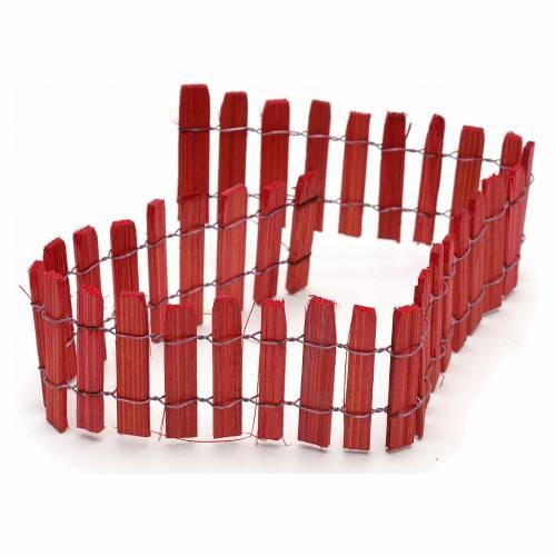 Cerca madera roja pesebre 40cm s1