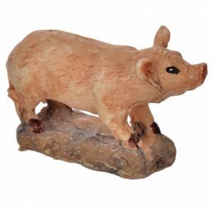 Animales para el pesebre: Cerdo cm. 3.5 x 2.5 h.