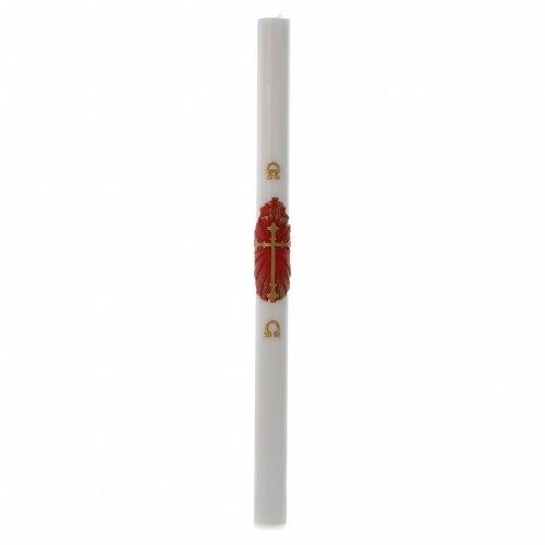 Cero pasquale cera bianca bianco Croce Antica 8x120 cm s3