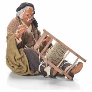 Neapolitan Nativity Scene: Chair fixer, Neapolitan Nativity 30cm