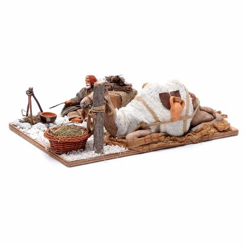 Chamelier avec chameau 12 cm mouvement crèche Naples s2
