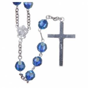 Chapelet argent 800 cristal Swarovski bleu clair 8 mm s2