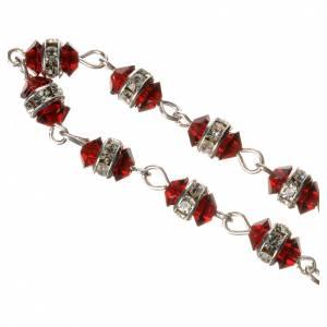 Chapelet dizainier argent 800 cristal rouge s3