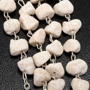 Chapelets et boîte chapelets: Chapelet en grains  pierre blanche Vierge de Medjugorje