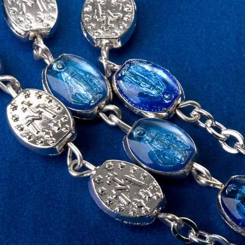Chapelet Ghirelli argenté médailles bleues 2