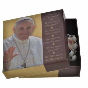 Chapelet Ghirelli Pape François verre de Bohème s4