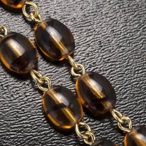 Chapelet Ghirelli Père Pio ambre 6x8mm s6
