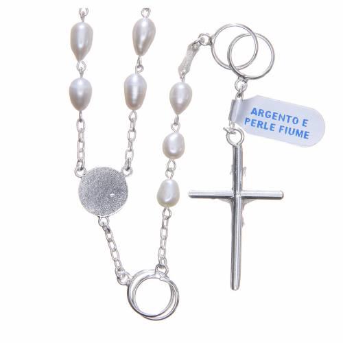 Chapelet mariage perles fleuve argent 800 s2