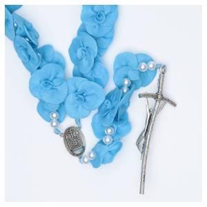 Chapelets et boîte chapelets: Chapelet Mural Medjugorje roses bleu clair