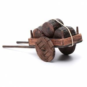 Charette avec tonneau en miniature crèche Napolitaine 12 s3