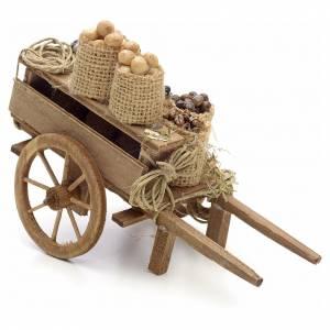 Charrette avec fruits en miniature crèche Napolitaine s2