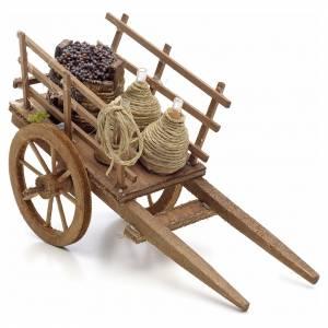 Charrette du vigneron en miniature crèche Napolitaine s1
