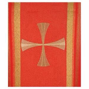Chasuble 100% polyester croix et fils dorés s4