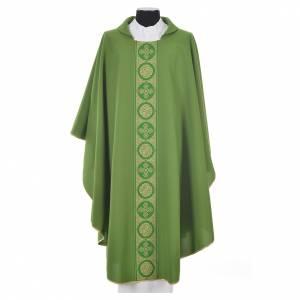 Chasuble 100% polyester golden crosses embellishment s6