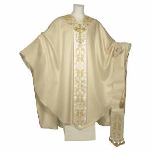 Chasubles: Chasuble 100% pure laine double retors avec croix