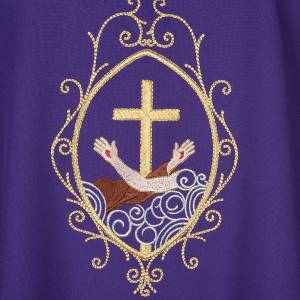 Chasuble and stole, cross and hands s11