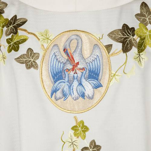 Chasuble and stole, ivy and pelican s2