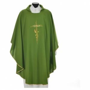 Chasuble broderie épi sur croix en polyester s9