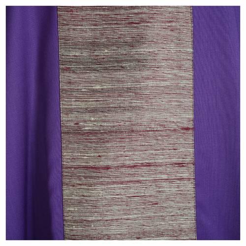 Chasuble en laine avec bandes appliquées en soie s7