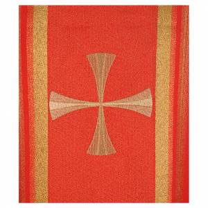 Chasuble in 100% polyester, cross and golden embroidery s4