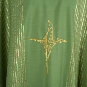Chasuble in lurex with stylized cross s3