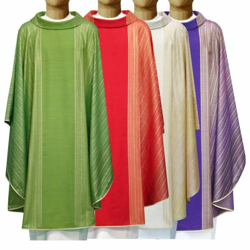 Chasuble in Tasmanian wool with double twisted yarn s1