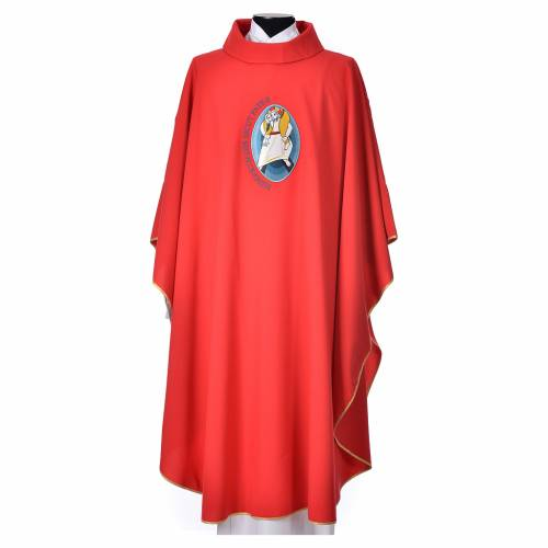 STOCK Chasuble Jubilee with LATIN application 100% polyester s5