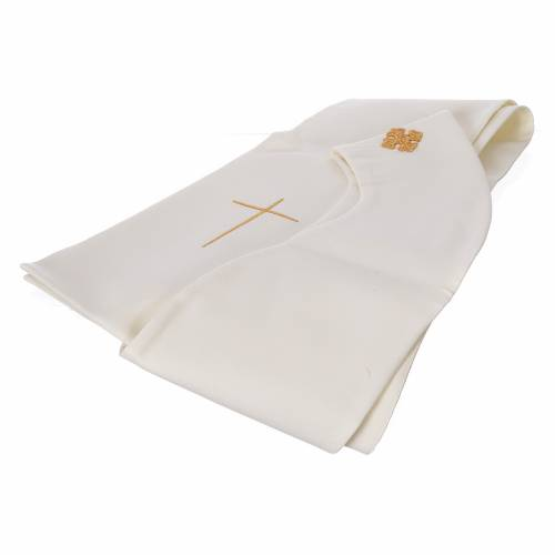 STOCK Chasuble Jubilee with LATIN application and golden finish 100% polyester s6