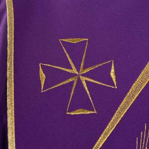 Chasuble liturgique broderies stylisées s6