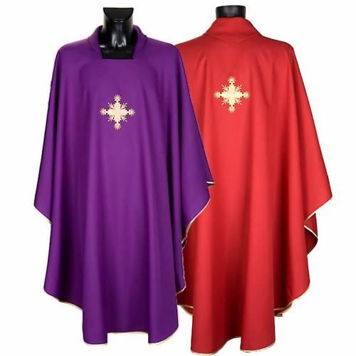 Chasuble liturgique et étole croix s1