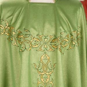 Chasuble liturgique lurex broderies dorées s3