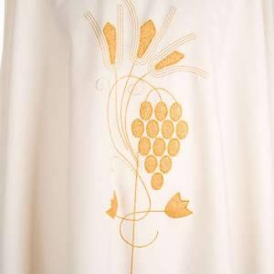 Chasuble liturgique raisins et épi dorés s3