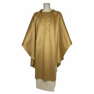 Chasubles: Chasuble tissu 100% polyester avec dessin croix fine épis lanterne