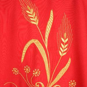 Chasuble with gold lamp and ears of wheat s6