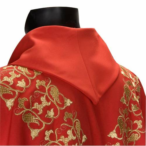 Chasuble with stole, IHS embroidery s3