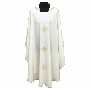 Chasubles: Chasuble with three crosses and woven embroideries