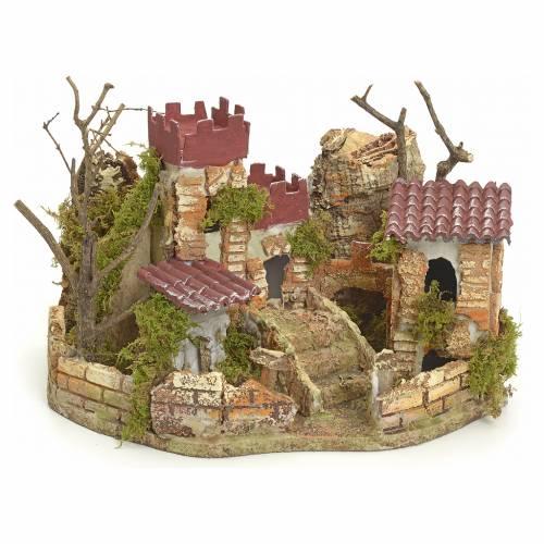 Château pour crèche 22x32x24 cm s1