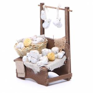 Cheese stall for Neapolitan Nativity measuring 13x13x6cm s2