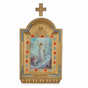 Chemin de croix 15 stations autels impression sur bois 30x19 cm s9