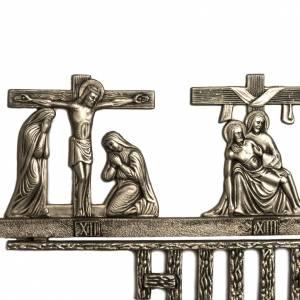 Chemin de croix en laiton 14 stations 2 pièces s5