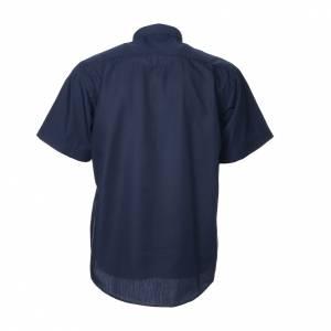 Chemises Clergyman: STOCK Chemise clergy m.courtes mixte bleu