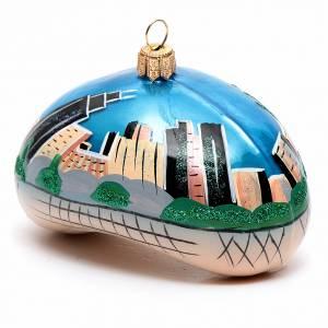 Adornos de vidrio soplado para Árbol de Navidad: Chicago Bean (Cloud Gate) adorno vidrio soplado Árbol de Navidad