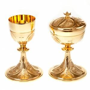 Metal Chalices Ciborium Patens: Chiselled chalice and ciborium set