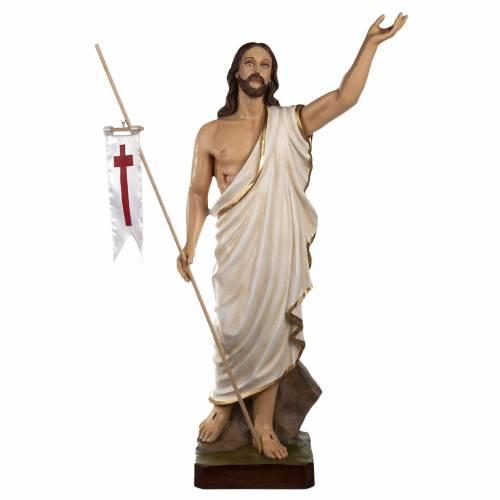 Christ ressuscité statue fibre de verre 85 cm s1