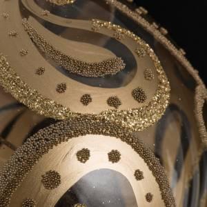 Christmas bauble, transparent with golden drops, 10cm s3