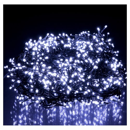 Christmas cable 1500 LEDs cold white programmable EXTERNAL USE electric power s2