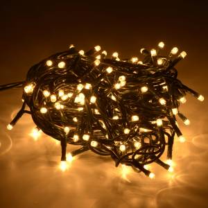 Christmas lights: Christmas lights 180 mini lights, fair white for indoor use