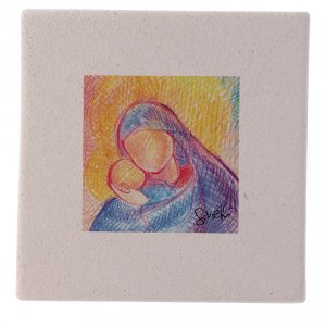 Christmas home decorations: Christmas miniature the hug between Mary and Jesus 10X10 cm